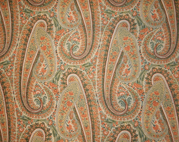 Colonial Williamsburg Foundation Monroe Paisley Fabric For Upholstery Home Decor Crafts Costume
