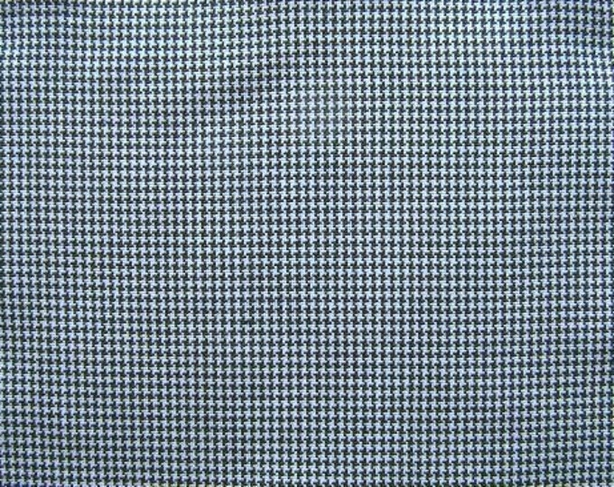 Navy Blue White Houndstooth Check Fabric Home Decorating Apparel Crafts