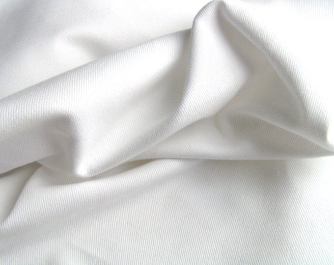 Soft Pure White Cotton Fabric Heavy Twill For Upholstery Slipcovers Pre Shrunk and Brushed