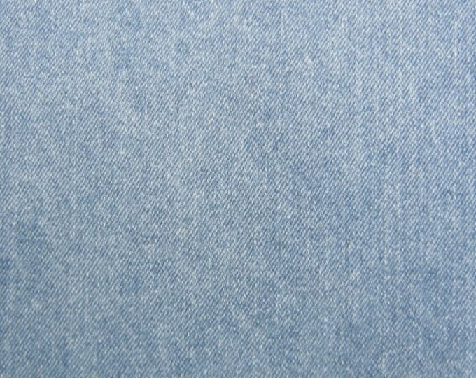 Light Blue Denim Fabric Heavy Weight Slipcovers Apparel Upholstery Faded Washed Stonewash