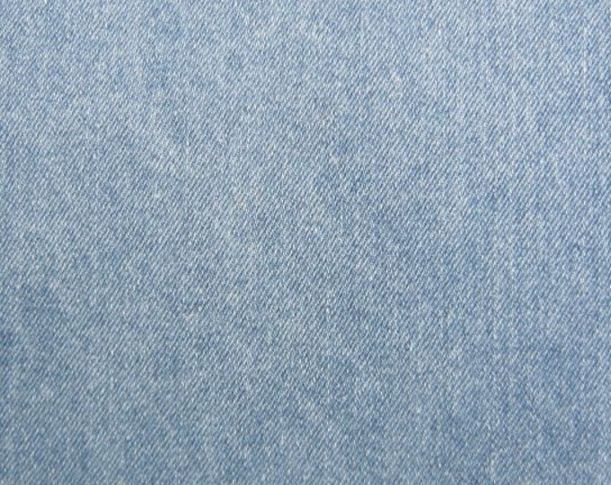 Light Blue Stonewash Cotton Denim Fabric Slipcovers Apparel Upholstery