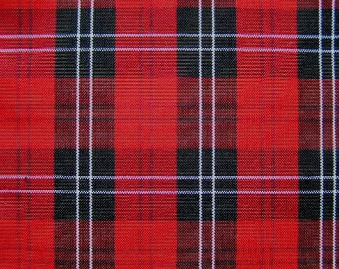 Red Black Plaid Upholstery Slipcover Fabric Wedding Banquet Tablecloth
