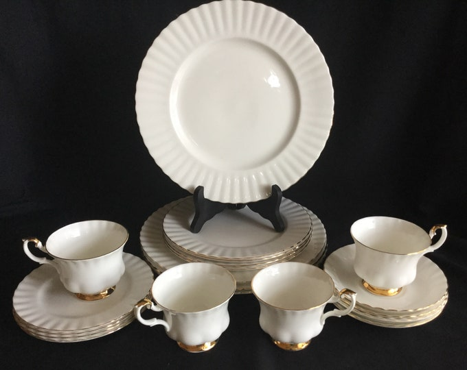 Royal Albert Val D'or Fine Bone China White With Gold