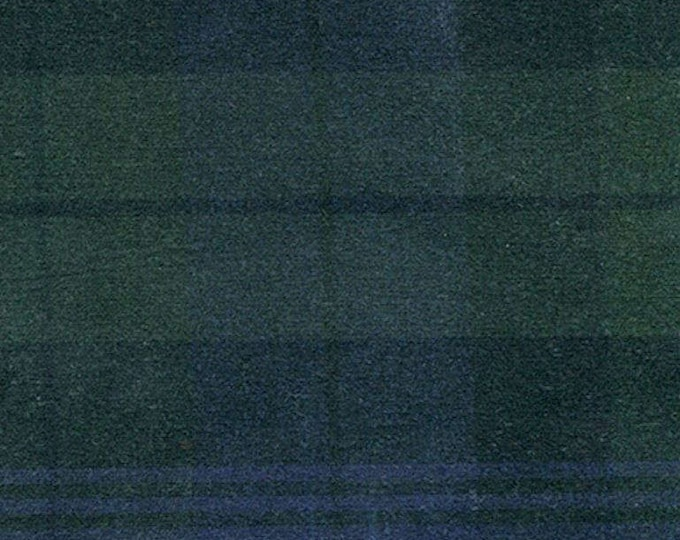 2 Yards BLACK WATCH TARTAN Plaid Waxed Oilcloth Oilskin Cotton Canvas Fabric For Apparel Bags Outdoor Gear