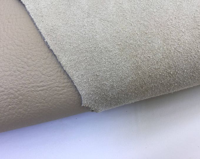 Genuine Leather Upholstery Whole Hide Pebbled Tan Beige Stone Heavy