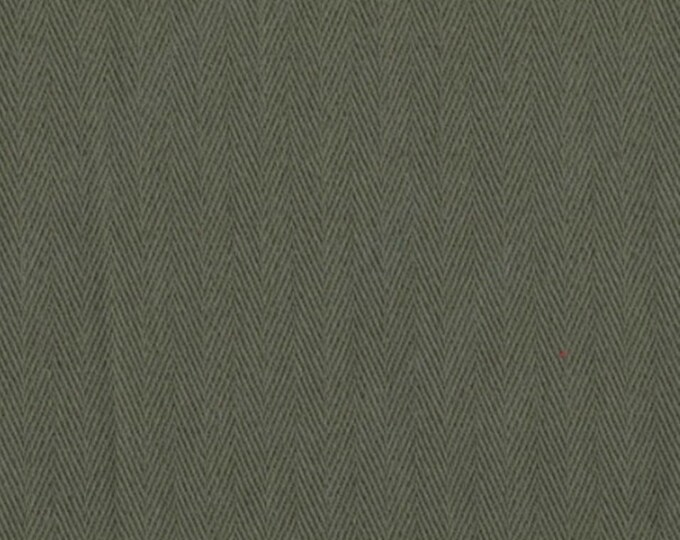 Army Green HERRINGBONE Cotton Fabric PRESHRUNK Ideal For Slipcovers Drapery Apparel Bags QUALITY