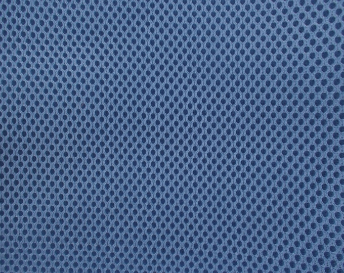 """60"""" Wide Padded Foam Mesh Fabric SLATE BLUE Auto Upholstery Bags Shoes Backpacks Straps Crafts Spacer"""