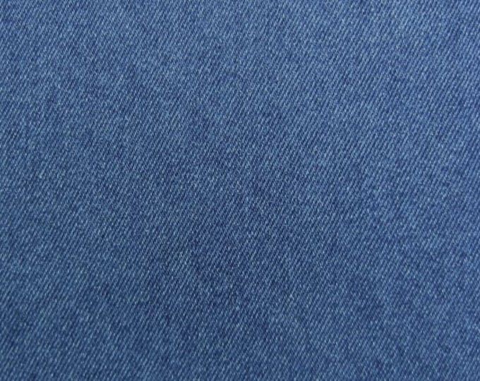 RESERVED FOR SEAN Cotton Denim Fabric for Slipcovers Apparel Upholstery Medium Wash Blue