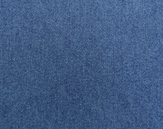 Cotton Denim Fabric for Slipcovers Apparel Upholstery Medium Wash Blue