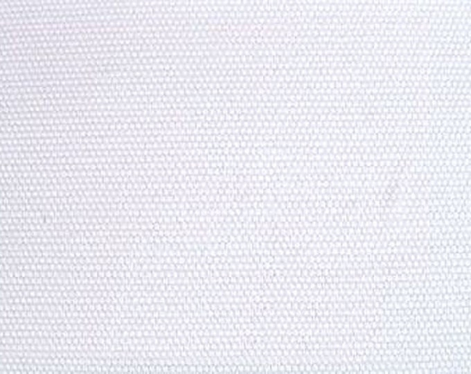 Cotton Canvas Fabric PURE WHITE For Upholstery Slipcovers Crafts