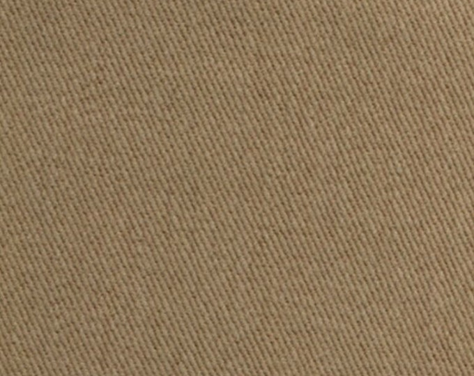 Heavy Brushed Slipcover Fabric COTTON Twill Upholstery EARTHY TAN