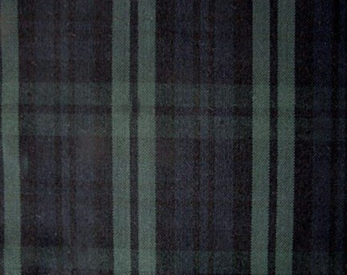 Black Watch Plaid Fabric Tartan For Home Decorating Apparel Green Blue Black