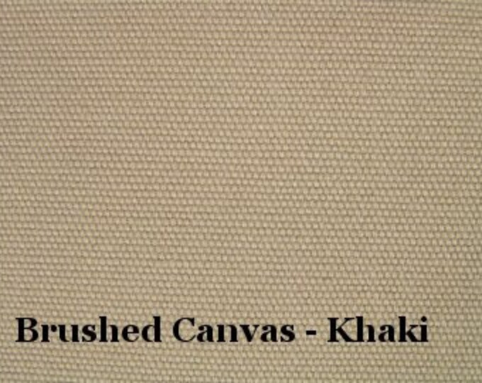 Soft Canvas Fabric Brushed Cotton Sanded Duck Khaki Brown Home Decor Apparel Crafts Neutral Color GORGEOUS