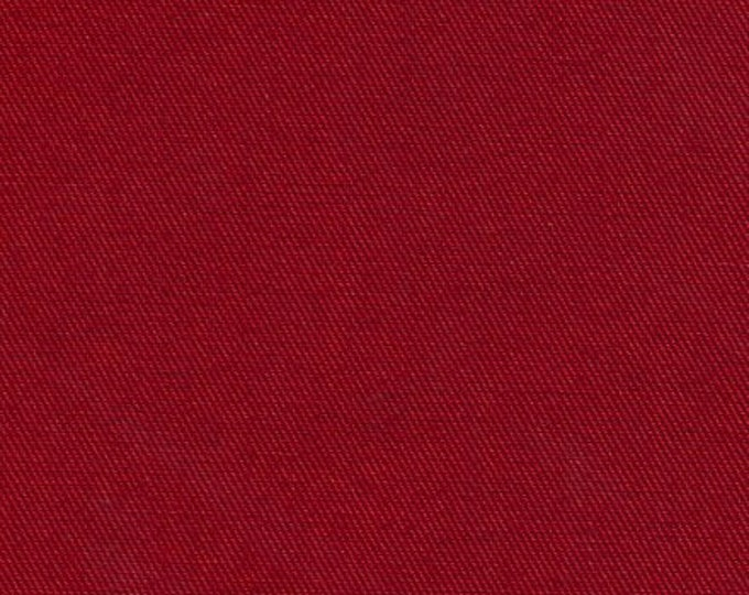 Red Recycled Water Bottle Fabric Organic Cotton Blend Eco Twill Multipurpose
