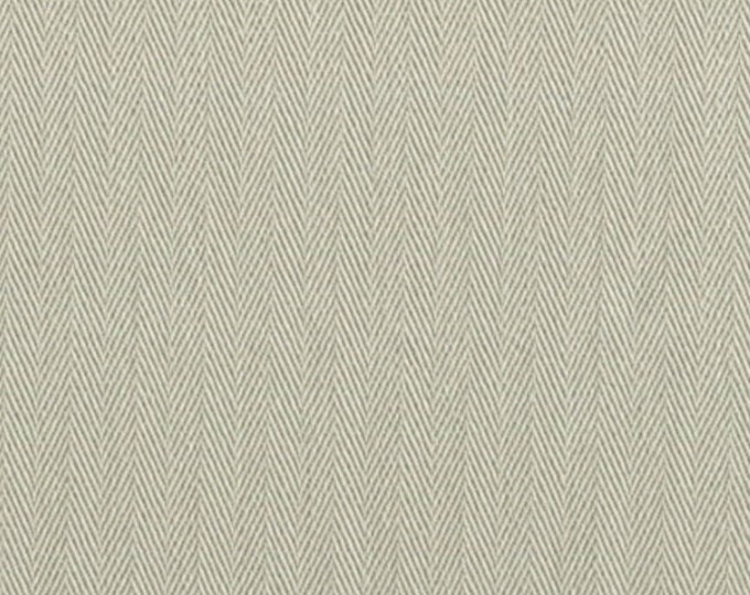 Stone HERRINGBONE Cotton Fabric PRESHRUNK Ideal For Slipcovers Drapery Apparel Bags QUALITY