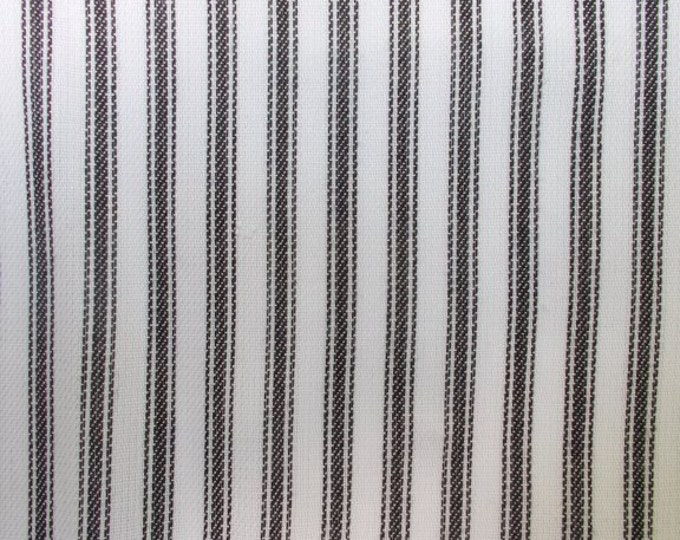 Black Ticking Stripe Fabric Cotton By the Yard Pure White Wedding Tablecloth Apparel