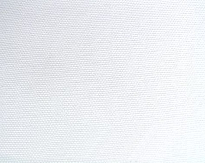 Organic Duck CANVAS Cotton Fabric PURE WHITE For Upholstery Home Decor Apparel Slipcovers Crafting