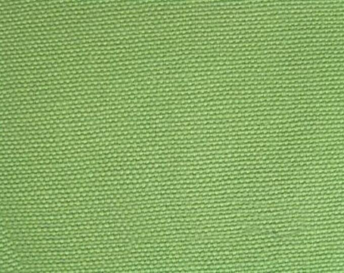 Organic Cotton Duck CANVAS Fabric AVOCADO Green