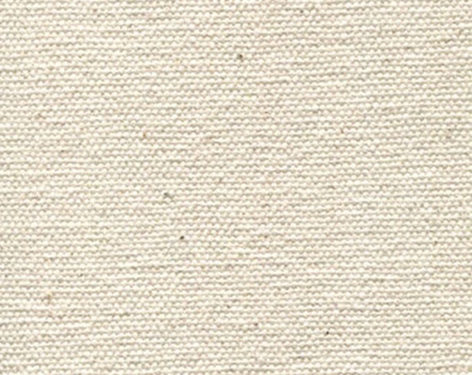 Heavy Certified ORGANIC Cotton Canvas Fabric MULTIPURPOSE Natural 18 oz Duck Cloth