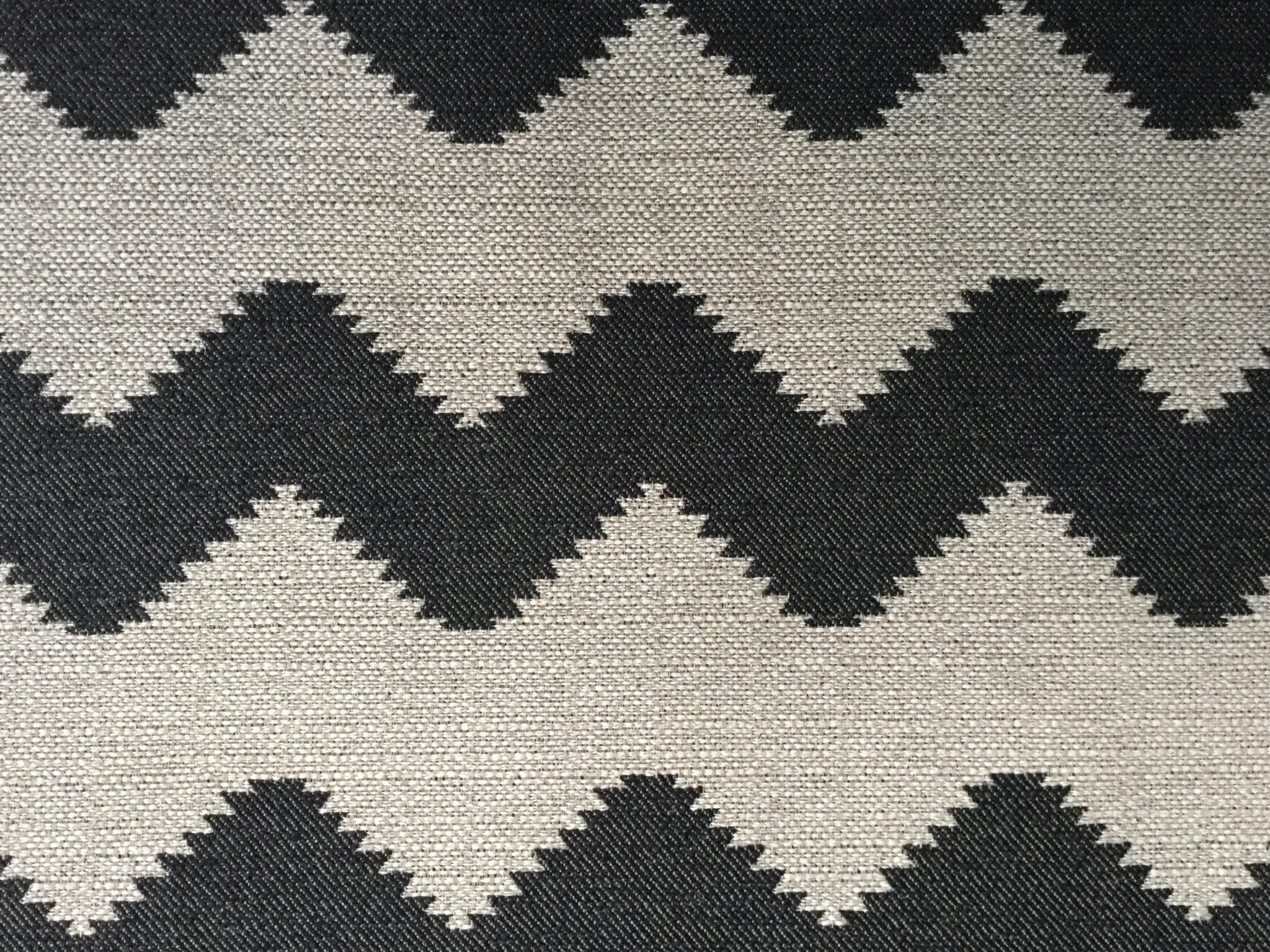 Woven Chevron Upholstery Fabric David Rothschild Black Light Tan 1
