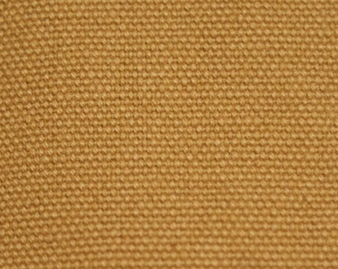 HEAVY DURABLE 18 oz  Harvest Tan Cotton Canvas Duck Fabric MULTIPURPOSE Water Resistant