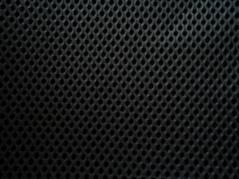 Black Spacer Mesh Fabric MULTIPURPOSE Upholstery Activewear image 0