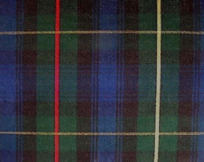 "2 Custom Made Stewart Hunting 120"" Round Tablecloths"