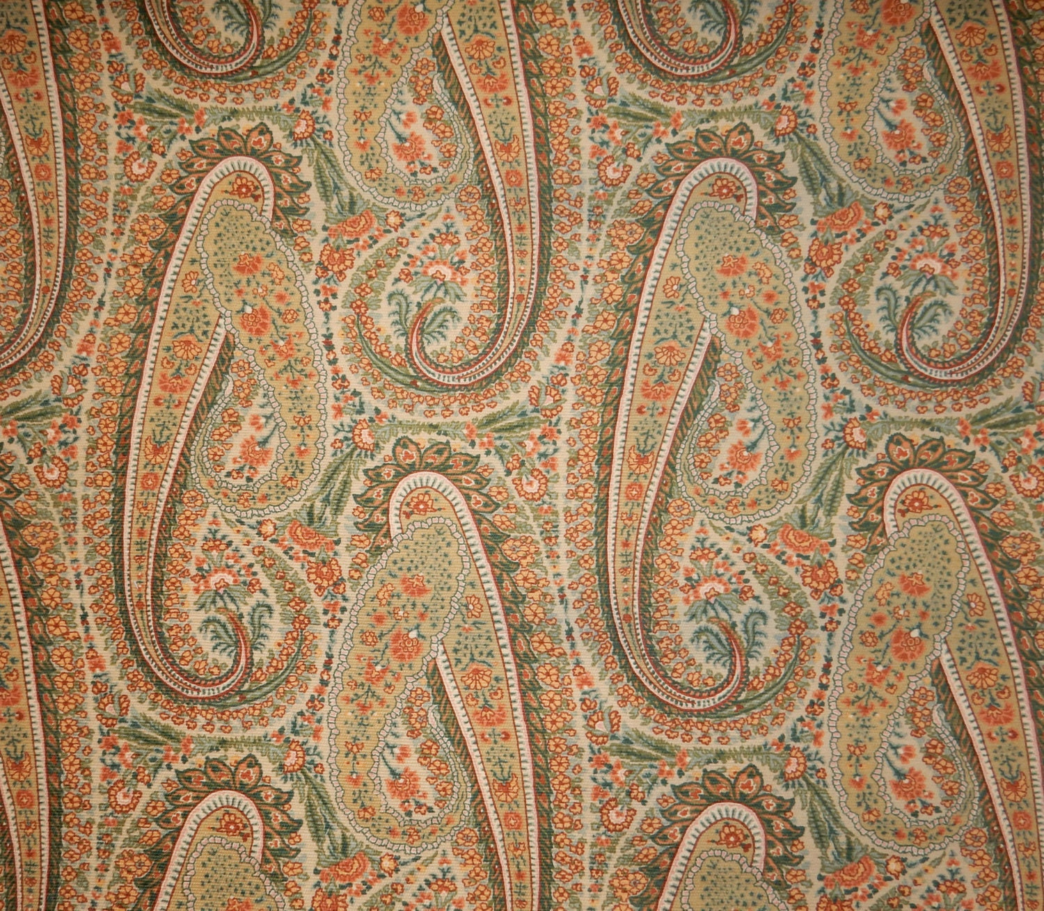 Colonial Williamsburg Foundation Monroe Paisley Fabric For Upholstery Home Decor Crafts Costume 1