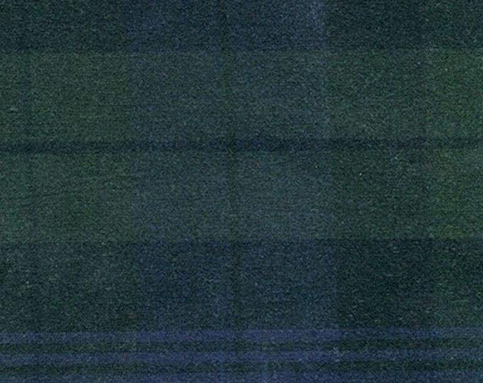 1 Yard BLACK WATCH TARTAN Plaid Waxed Oilcloth Oilskin Cotton Canvas Fabric For Apparel Bags Outdoor Gear
