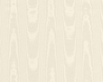 Moire Fabric Ivory Cotton Blend Upholstery Drapery Heavy Lining Fiber Art Crafting Watermark