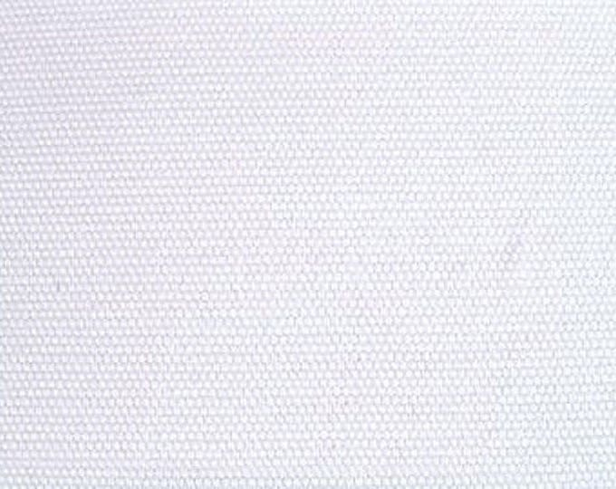Pure White Cotton Canvas Fabric Apparel Upholstery Crafts