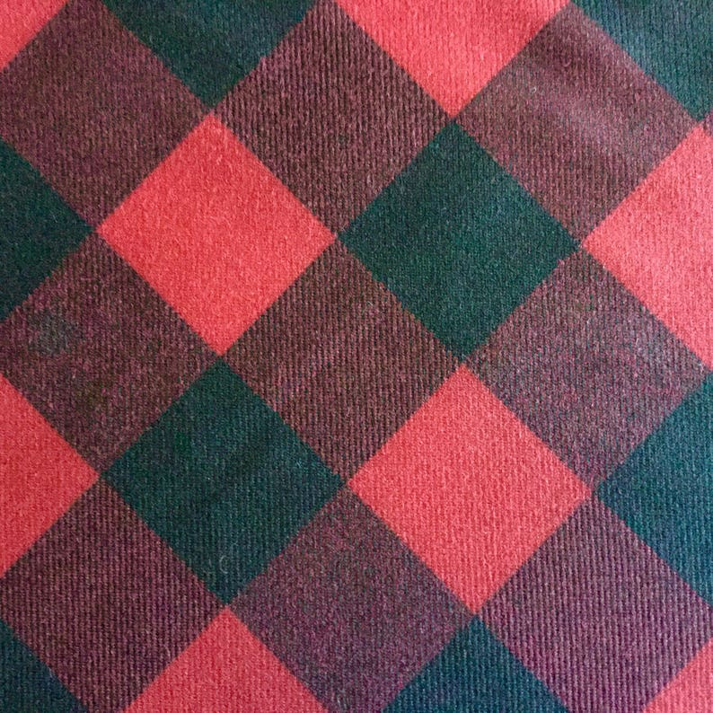 Red Black Buffalo Check Oilcloth Fabric Waxed Cotton Canvas Duck Plaid Fabric For Apparel Upholstery Bags Outdoor Gear Tents