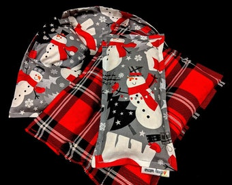 Heating Pad Set, Microwave Heat Pack, Corn Bags, Heated Neck Wrap, Neck Pain, Christmas Gift, Host Gift, Holiday Gift Guide, Snowman Set