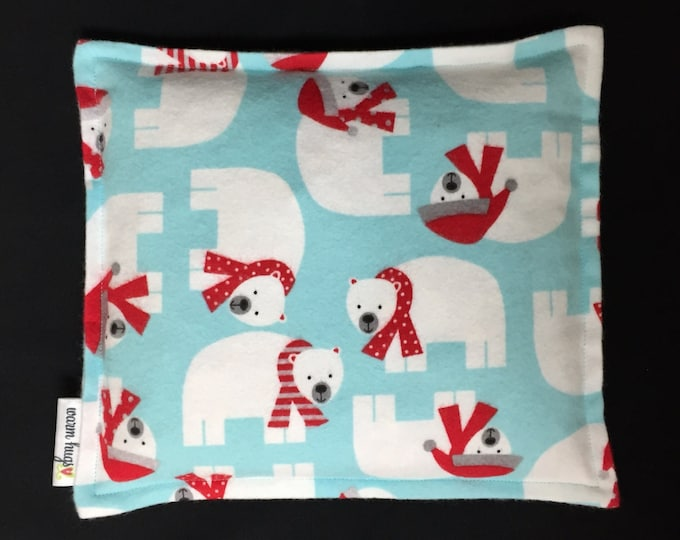 Warm Hugs Flannel Corn Heating Pad, Corn Bag, Microwave Heating Pad, Bed Warmer, Children's Corn Bag, Relaxation Gift, Ice Pack, Polar Bear