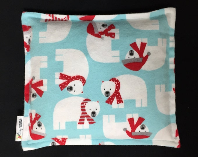 Flannel Corn Heating Pad, Corn Bag, Microwave Heating Pad, Bed Warmer, Children's Corn Bag, Relaxation Gift, Ice Pack, Polar Bear