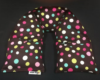 Heated Neck Wrap, Corn Bag Neck Warmer, Corn Heating Pad, Microwave Neck Wrap, Hostess Gift, Teen Gift, Spa Massage Therapy, Polka Dots