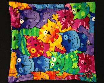 Children's Corn Bag, Corn Heating Pad, Microwavable Corn Pillow, Kids Cuddler - Colorful Cats