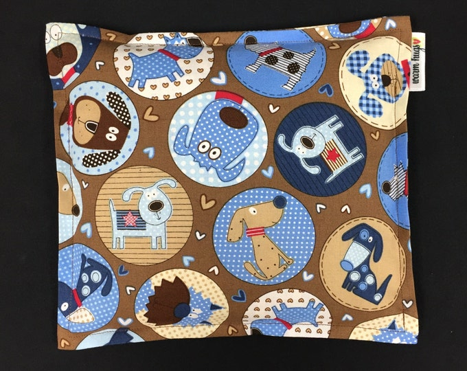 Corn Heating Pad, Corn Bag, Microwave Heating Pad, Heated Bag, Children's Corn Bag, Relaxation Gift, Ice Pack, Get Well Gift, Dog Circles