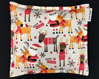Flannel Corn Bags, Heat Pack, Corn Heating Pad, Christmas Corn Bags, Heated Bag, Ice Pack, Relaxation Gift, Stocking Stuffer, Secret Santa