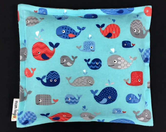 Flannel Corn Bags, Heat Pack, Corn Heating Pad, Microwave Corn Bags, Heated Bag, Ice Pack, Relaxation Gift, Gift for Children, Whales