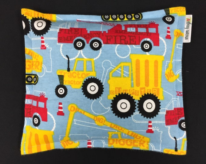 Kids Flannel Corn Bags, Heat Pack, Corn Heating Pad, Microwave Corn Bags, Heated Bag, Ice Pack, Relaxation Gift, Gift for Children, Trucks