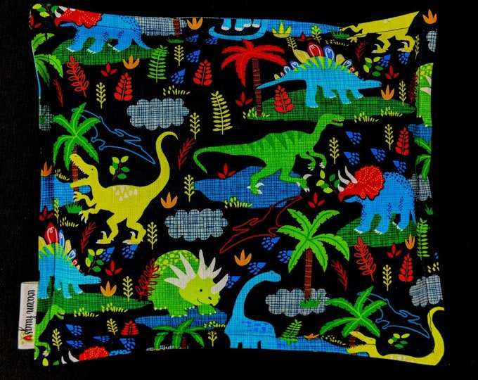 Dinosaur Corn Bag, Heat Pack, Microwave Corn Heating Pad, Bed Warmer, Ice Pack, Relaxation Gift, Gift for Children, Get Well, Daycare Gift