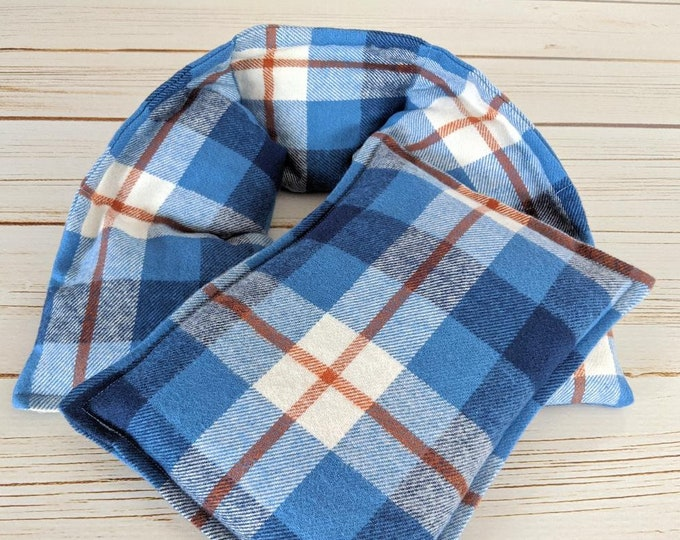 Fathers Day Warm Hugs Flannel  Heating Pad Set , Heated Neck Wrap, Microwave Heat Pack, Corn Bags, Hot or Cold, Stress Relief, Neck Pain