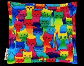 Kids Corn Bags, Heat Pack, Microwave Corn Heating Pad, Heated Bag, Ice Pack, Relaxation Gift, Gift for Children, Rainbow Cats