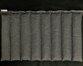 Microwave Heating Pad, Corn Heating Pad, Corn Bag, Fitness Therapy, Hot Cold Therapy, Lumbar Heat Pack, Relaxation Gift for Him, Gray Black