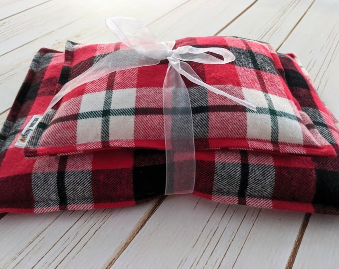Flannel Corn Bag Gift Set, Corn Heating Pad, Corn Bags, Microwave Heating Pad, Hot or Cold Therapy, Spa Relaxation, Unisex Gift