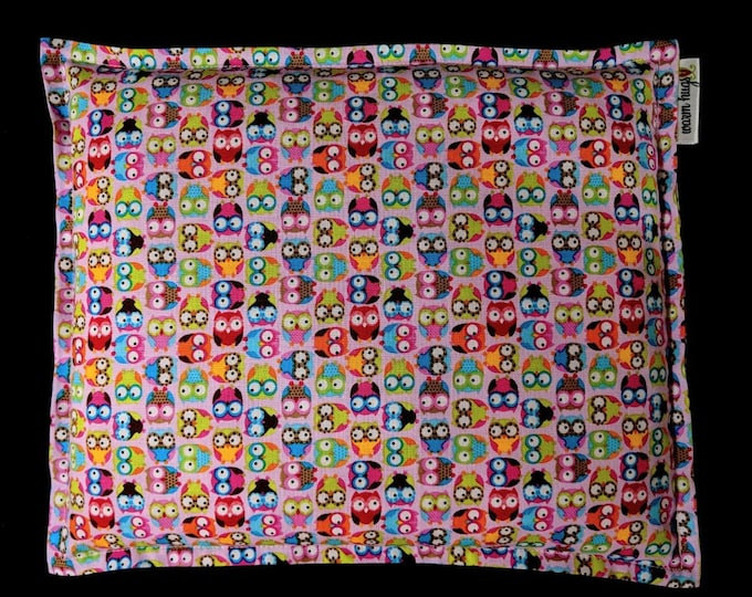 Corn Bag, Corn Heating Pad, Microwave Heat Pack, Hot Cold Therapy, Spa Massage Gift, Physical Therapy, Cramp Pain Relief, Gift For Her, Owls