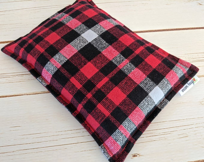 Flannel Microwave Corn Heating Pad 7 x 9.5 for Hot Cold Therapy, Warm Hugs Corn Bag, Microwave Corn Bag, Migraine Headache Sinus Pressure