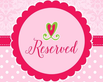 Reserved Custom Listing for Cindy H
