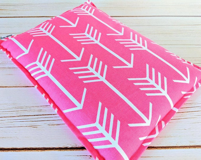 Large Corn Heating Pad, Corn Bags, Bed Warmer, Relaxation Gift, Microwave Heating Pad, Hot Cold Pack, Dorm Room, Pink Arrow Corn Bag
